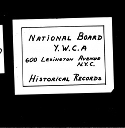 Student southwest region YWCA of the U.S.A. records, Record Group 11. Microfilmed central files