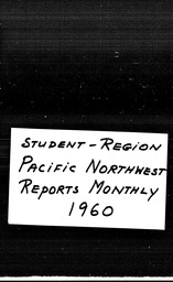 Student Pacific Northwest region YWCA of the U.S.A. records, Record Group 11. Microfilmed central files