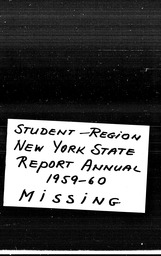 Student New York region YWCA of the U.S.A. records, Record Group 11. Microfilmed central files