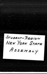 Student New York region YWCA of the U.S.A. records, Record Group 11. Microfilmed headquarters files