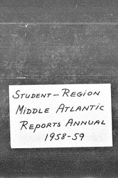 Student Middle Atlantic region YWCA of the U.S.A. records, Record Group 11. Microfilmed central files