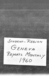 Student Geneva region YWCA of the U.S.A. records, Record Group 11. Microfilmed central files