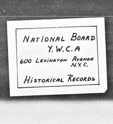 Student Geneva region YWCA of the U.S.A. records, Record Group 11. Microfilmed headquarters files