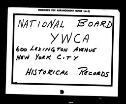 Conventions, sixth YWCA of the U.S.A. records, Record Group 11. Microfilmed headquarters files