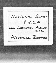 National Student Council YWCA YWCA of the U.S.A. records, Record Group 11. Microfilmed central files
