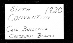 Conventions, sixth YWCA of the U.S.A. records, Record Group 11. Microfilmed central files