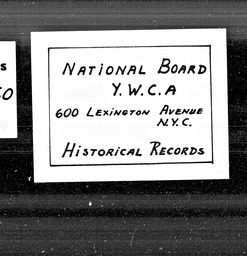 Columbia, Uruguay and South America YWCA of the U.S.A. records, Record Group 11. Microfilmed central files