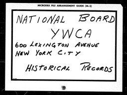 Conventions, first YWCA of the U.S.A. records, Record Group 11. Microfilmed central files