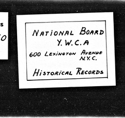 India YWCA of the U.S.A. records, Record Group 11. Microfilmed headquarters files