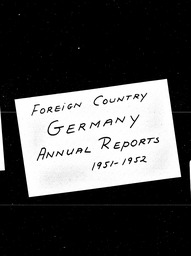 Germany YWCA of the U.S.A. records, Record Group 11. Microfilmed central files