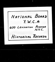 Africa YWCA of the U.S.A. records, Record Group 11. Microfilmed headquarters files