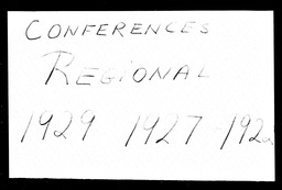 Conferences YWCA of the U.S.A. records, Record Group 11. Microfilmed central files