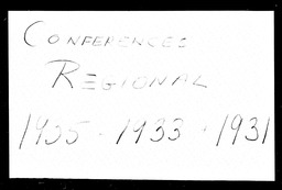 Conferences YWCA of the U.S.A. records, Record Group 11. Microfilmed headquarters files