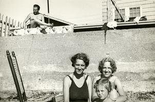Sylvia Plath with her mother and aunt at Point Shirley, Winthrop, Massachusetts