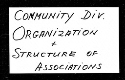 Community Division YWCA of the U.S.A. records, Record Group 11. Microfilmed headquarters files
