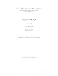 Link to transcript of Marjory Nelson interview
