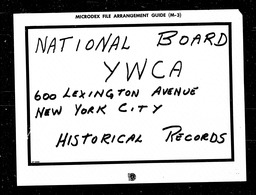 Business and professional women YWCA of the U.S.A. records, Record Group 11. Microfilmed headquarters files