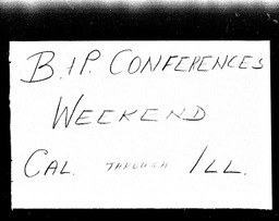 Business and professional conferences YWCA of the U.S.A. records, Record Group 11. Microfilmed central files