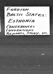Baltic States YWCA of the U.S.A. records, Record Group 11. Microfilmed central files