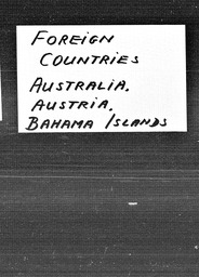 Australia, Austria, and Bahama Islands YWCA of the U.S.A. records, Record Group 11. Microfilmed headquarters files