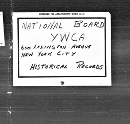 Africa YWCA of the U.S.A. records, Record Group 11. Microfilmed central files