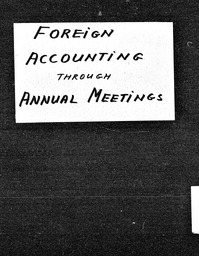 Foreign YWCA of the U.S.A. records, Record Group 11. Microfilmed central files