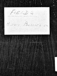 Fields and field work YWCA of the U.S.A. records, Record Group 11. Microfilmed central files