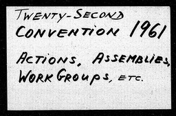 Conventions, twenty-second YWCA of the U.S.A. records, Record Group 11. Microfilmed central files