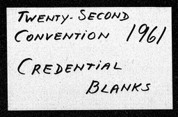 Conventions, twenty-second YWCA of the U.S.A. records, Record Group 11. Microfilmed headquarters files