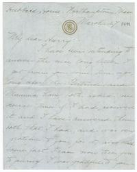 Correspondence from Marjory Gane (class of 1901) to her brother, Harry Gane