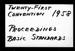 Conventions, twenty-first YWCA of the U.S.A. records, Record Group 11. Microfilmed central files