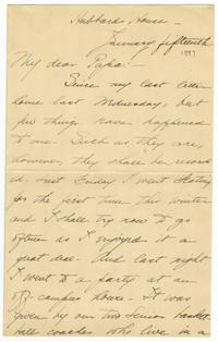 Correspondence from Marjory Gane (class of 1901) to her father, Thomas Gane