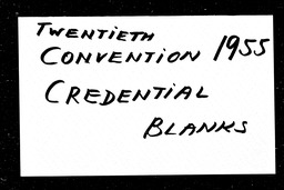 Conventions, twentieth YWCA of the U.S.A. records, Record Group 11. Microfilmed headquarters files