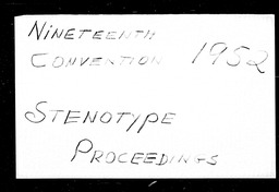 Conventions, nineteenth YWCA of the U.S.A. records, Record Group 11. Microfilmed central files