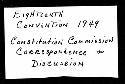 Conventions, eighteenth YWCA of the U.S.A. records, Record Group 11. Microfilmed central files
