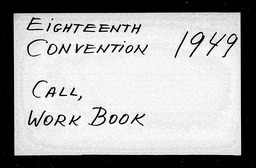 Conventions, eighteenth YWCA of the U.S.A. records, Record Group 11. Microfilmed headquarters files
