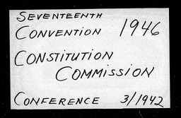 Conventions, seventeenth YWCA of the U.S.A. records, Record Group 11. Microfilmed central files