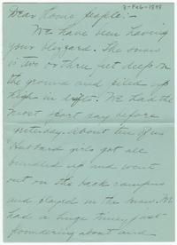 Correspondence from Marjory Gane (class of 1901) to her family,