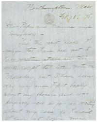 Correspondence from Marjory Gane (class of 1901) to family