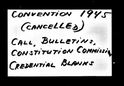 Conventions, cancelled YWCA of the U.S.A. records, Record Group 11. Microfilmed central files