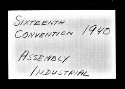 Conventions, sixteenth YWCA of the U.S.A. records, Record Group 11. Microfilmed central files