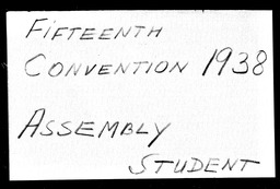 Conventions, fifteenth YWCA of the U.S.A. records, Record Group 11. Microfilmed headquarters files