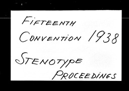 Conventions, fifteenth YWCA of the U.S.A. records, Record Group 11. Microfilmed central files