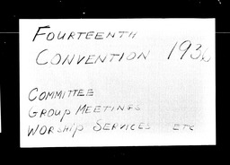 Conventions, fourteenth YWCA of the U.S.A. records, Record Group 11. Microfilmed central files