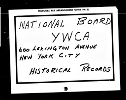 Conventions, fourteenth YWCA of the U.S.A. records, Record Group 11. Microfilmed headquarters files