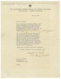 Letter from Mrs. George B. Ford (1876-1964) to Mrs. Samuel F. Clarke