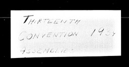 Conventions, thirteenth YWCA of the U.S.A. records, Record Group 11. Microfilmed headquarters files