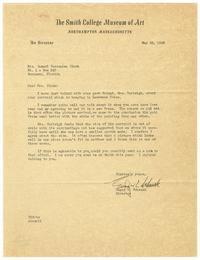 Letter from Edgar Craig Schenck (1909-1959) to Mrs. Samuel F. Clarke