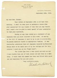 Letter from Charles N. Clark to Mrs. Samuel F. Clarke
