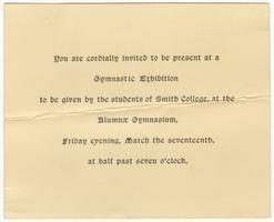Invitation to gymnastic exhibition